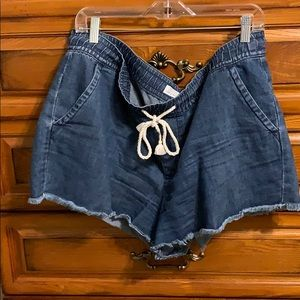 Drawstring LOFT Jean shorts